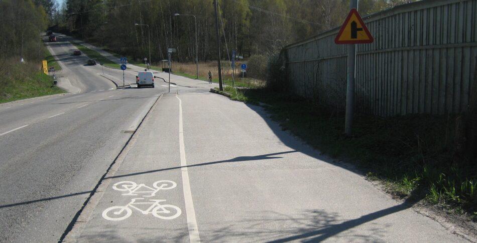Hur bred är en cykelbana?