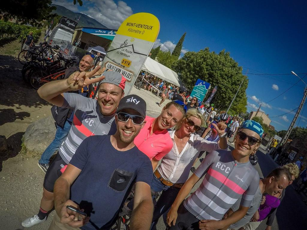 Vid botten av Mont Ventoux under Tour de France 2016