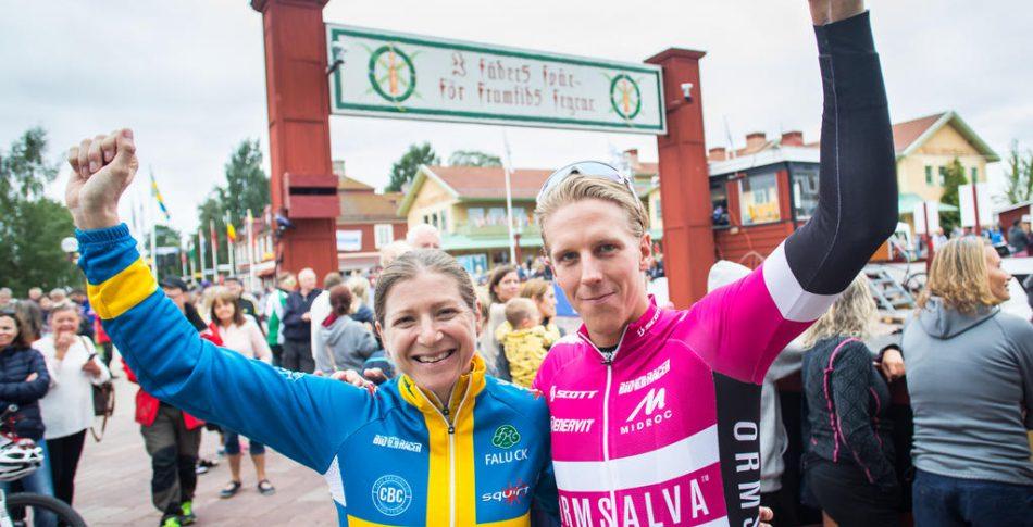 Jennie Stenerhag och Jonas Ahlstrand vann Cykelvasan 2017.
