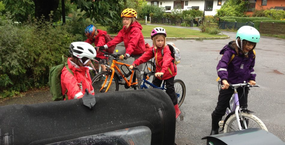 Att cykla till skolan