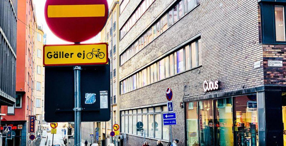Tilläggsskylten får nej- en käftsmäll mot hela cykelsverige