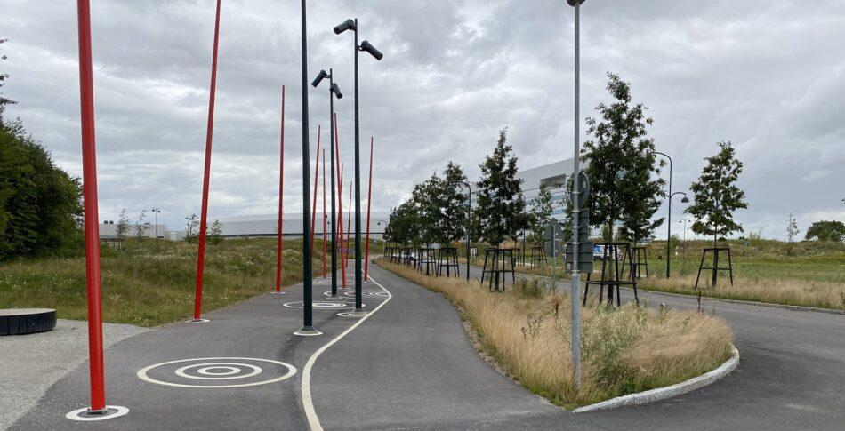 Plockepinn på gång- och cykelbanan