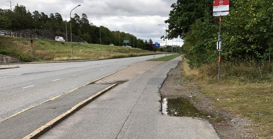 Vart tog den lilla cykelbanan vägen?