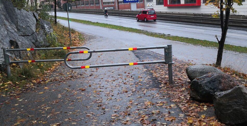 Berlinmuren på cykelbanan