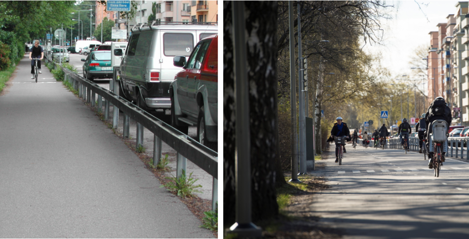 Före och efter – förvandling av ett transportsystem