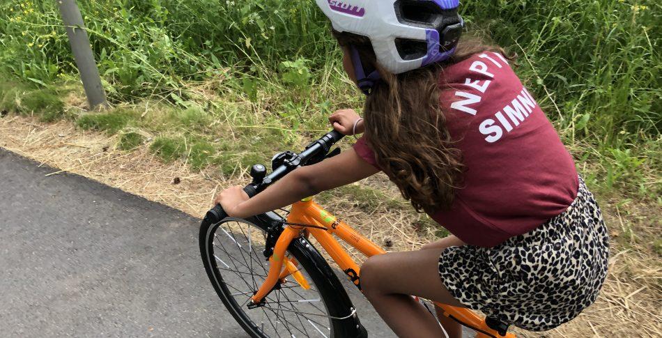 På cykeltur med dottern