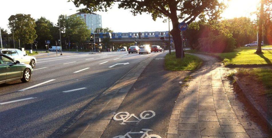 Dubbelriktad cykelbana – 1 meter bred